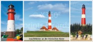 XL-Postkarte Leuchttürme SH West
