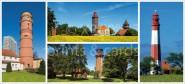 XL-Postkarte Leuchttürme SH Ost