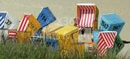XL-Postkarte Strandkörbe