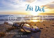 Postkarte Urlaubspost von der Küste
