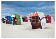 Postkarte Strandkörbe