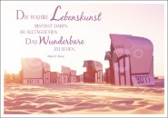 Postkarte Strandkörbe (Lebenskunst)