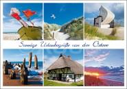 Postkarte Sonnige Urlaubsgrüße