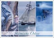 Postkarte Stürmische Ostsee