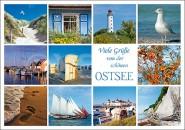 Postkarte Viele Grüße von der Ostsee (Mischkarte)
