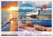Postkarte Viele Grüße von der Ostsee