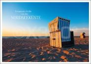 Postkarte Entspannte Grüße von der Nordsee