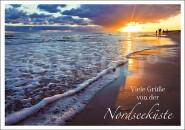 Postkarte Viele Grüße von der Nordsee