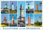 Postkarte Leuchttürme Ostseeküste