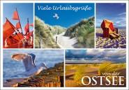 Postkarte Urlaubsgrüße von der Ostsee