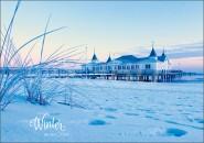 Postkarte Winter an der Ostsee
