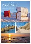 Postkarte Von der Nordsee sonnige Grüße