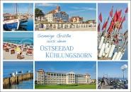 Postkarte Sonnige Grüße Kühlungsborn