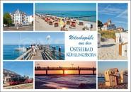 Postkarte Urlaubsgrüße aus dem Ostseebad Kühlungsborn