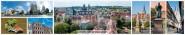 Panoramapostkarte Erfurt Impressionen