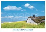 Postkarte Haus in Düne