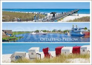 Postkarte Ostseebad Prerow 3 Panoramen