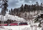 Postkarte Brockenbahn Winter