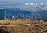 Postkarte Brocken mit Brockenbahn