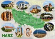 Postkarte Harzkarte