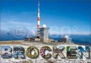 Postkarte Brocken Winter