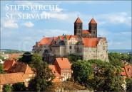 Postkarte Quedlinburg Stiftskirche