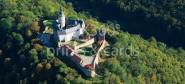 XL-Postkarte Burg Falkenstein aus der Luft