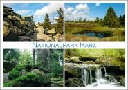 Postkarte Nationalpark Harz 4 Motive