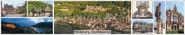Panoramapostkarte Heidelberg Impressionen
