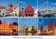 Postkarte Hansestadt Greifswald Mischkarte