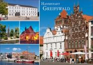 Postkarte Hansestadt Greifswald Mischarte