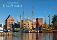 Postkarte Hansestadt Greifswald Hafen