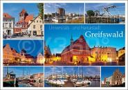 Postkarte Universitäts und Hansestadt Greifswald