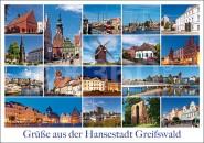 Postkarte Grüße aus der Hansestadt Greifswald