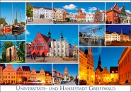 Postkarte Universitäts- und Hansestadt Greifswald