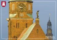 Postkarte Katharinenkirche mit Michel