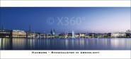 XL-Postkarte Binnenalster bei Nacht