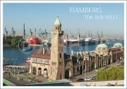 Postkarte Hamburg Tor zur Welt