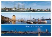 Postkarte Hafen Hamburg 3 Motive