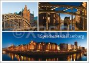 Postkarte Speicherstadt Hamburg