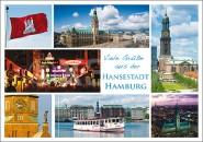 Postkarte Viele Grüße
