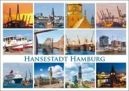 Postkarte Hansestadt Hamburg
