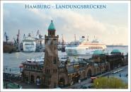 Postkarte Hamburg Landungsbrücken