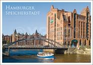 Postkarte Hamburger Speicherstadt