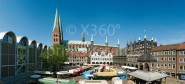 XL-Postkarte Lübeck Rathaus