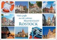Postkarte Viele Grüße aus der schönen Hansestadt Rostock