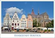 Postkarte Hansestadt Rostock Markt
