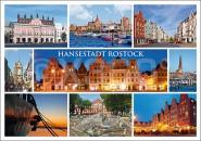 Postkarte Hansestadt Rostock