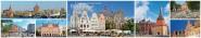 Panoramapostkarte Rostock Impressionen