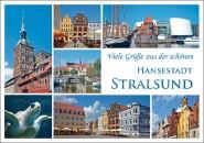 Postkarte Viele Grüße aus Stralsund (Mischkarte)